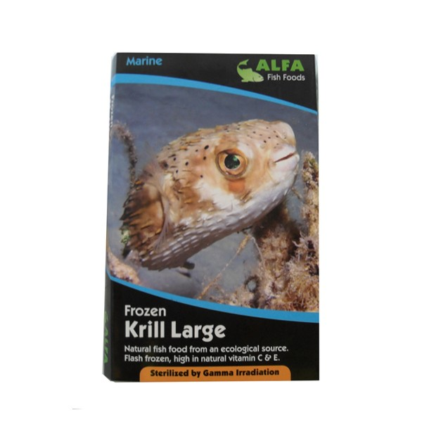 Alf frozen large krill 100g for Flash frozen fish