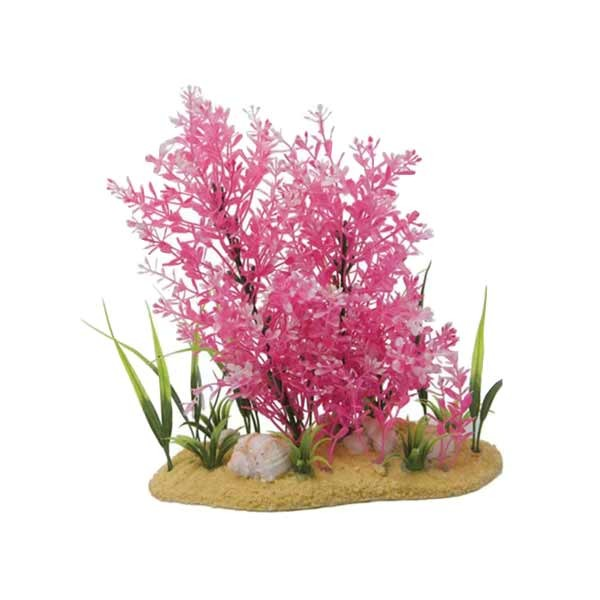 11in pink plant and base for Den marketing fish tanks