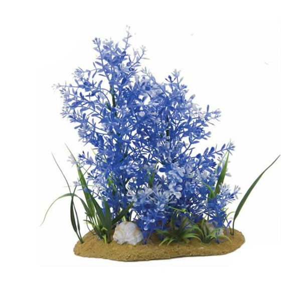 11in Blue Plant And Base