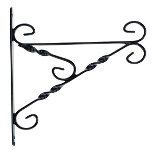 45-60cm (18-24in) Hvy Duty Hanging Basket Bracket Black