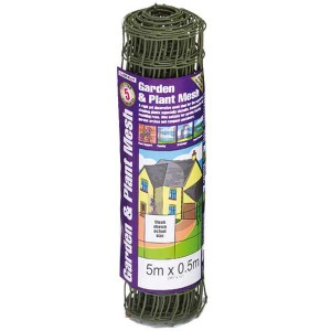 5m X 0.5m 50mm Garden And Plant Mesh  Green