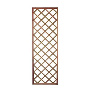 1.8m X 0.3m Premium Hvy Duty Framed Trellis Panel -  Tan