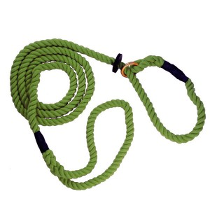 12mm X 60in Rope Slip Lead Olive