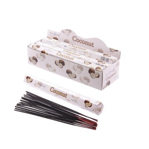 37140 Coconut Stamford Premium Hex Incense Sticks