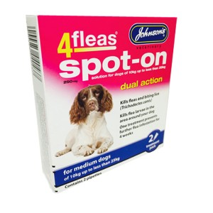 4fleas Spot On Medium Dog 2 Months Treatment