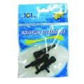 2 Way Plastic Airline Valve Black W/Base 3 Pack