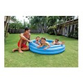 "Inflatable 3 Ring Crystal  Blue Pool  58""x13"""
