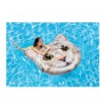Inflatable Cat Face Island Pool Float 58""