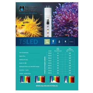 T5 LED Aquarium Lamp Marine White 55cm