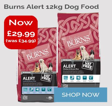 Burns Alert 12kg Dog Food Offer